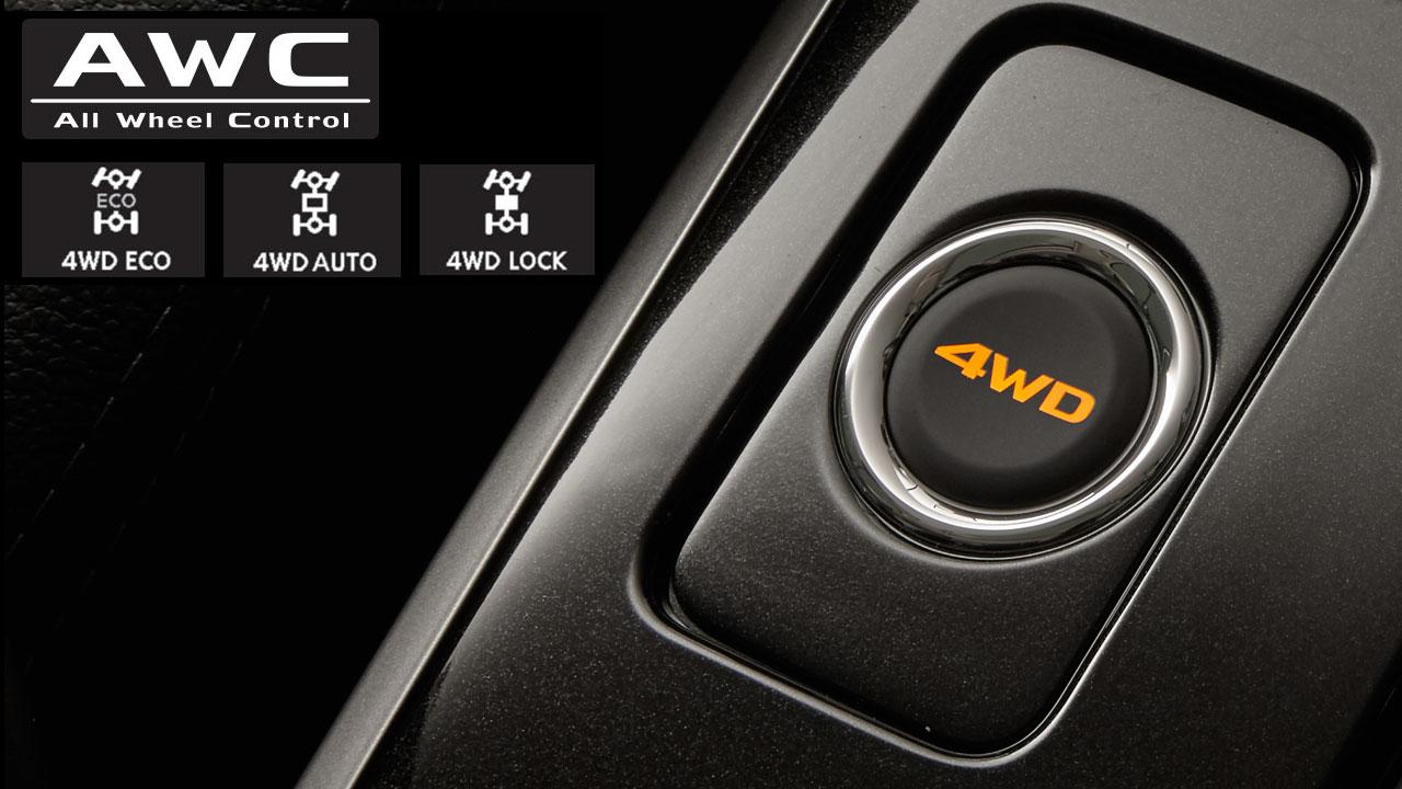 Mitsubishi outlander 2 cầu 7 chỗ 2.4 cvt trang bị Hệ thống 4WD linh hoạt