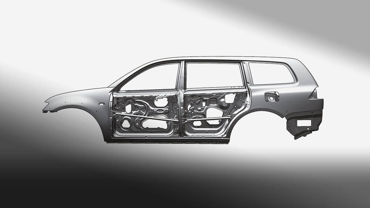Xe Mitsubishi Pajero Sport máy xăng số tự động trang bị thêm thanh gia cường cửa xe