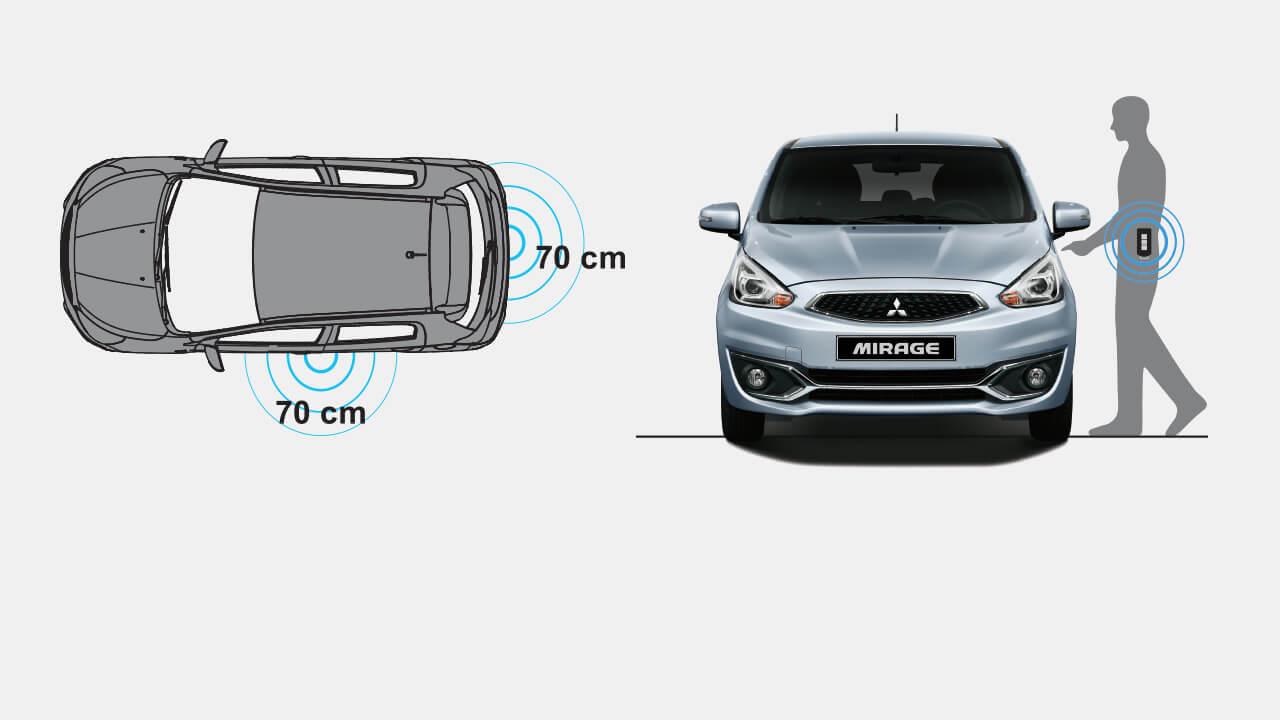 Mitsubishi mirage số tự động trang bị Hệ thống KOS