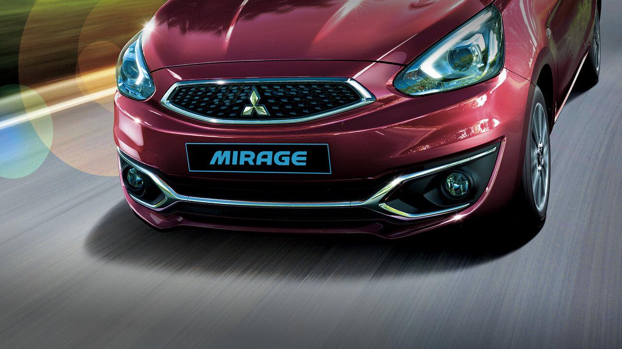 Mitsubishi mirage số tự động trang bị cản trước viền crôm