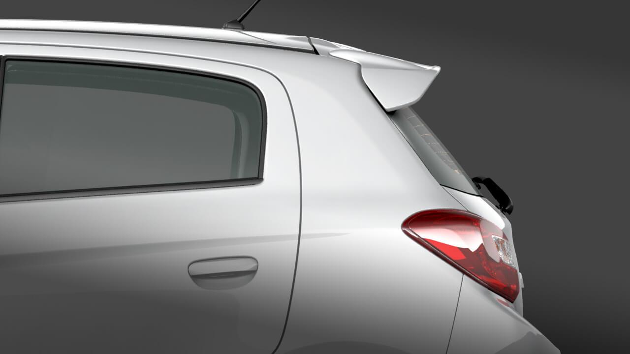 Mitsubishi mirage số tự động trang bị cản lướt gió thể thao