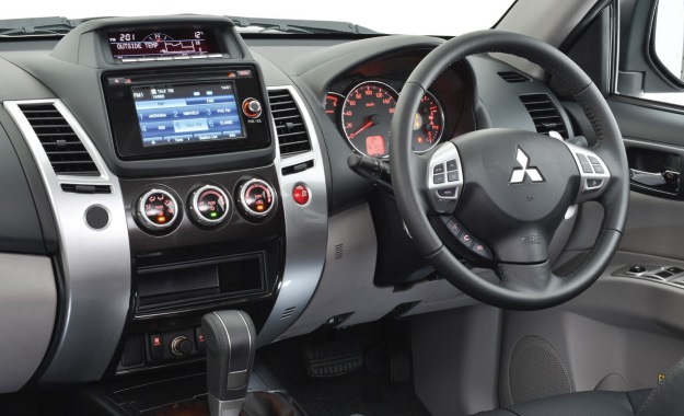 Mitsu-Pajero-The-cabin-is-richly-equipped-but-plastics-are-utilitarian-at-best