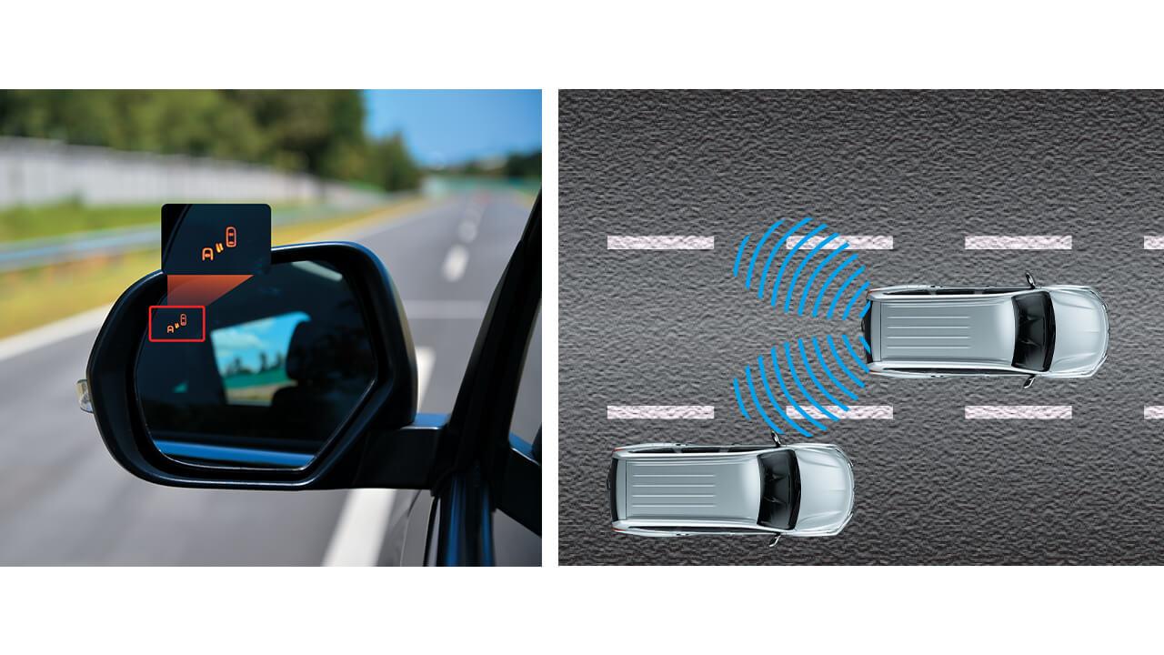 All New Pajero Sport hệ thống cảnh báo điểm mù