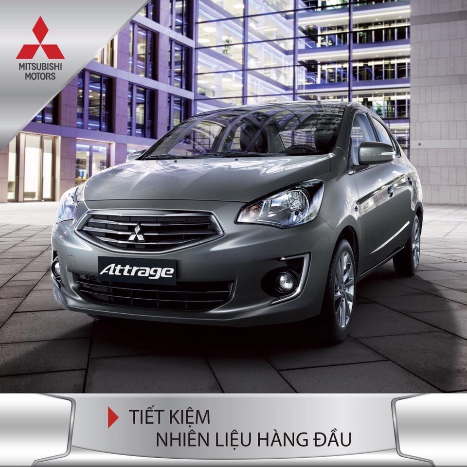 Mitsubishi Attrage 2017 tiết kiệm nhiên liệu hàng đầu