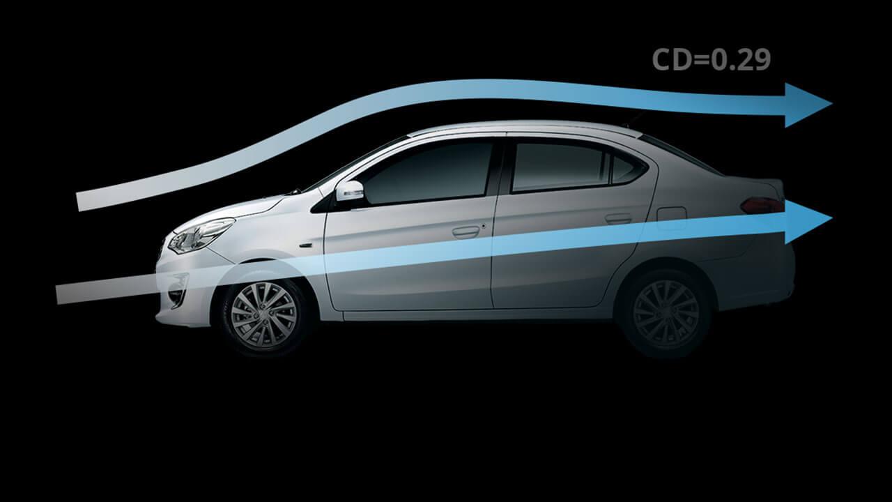 Mitsubishi Attrage 2017 có thiết kế khí động học