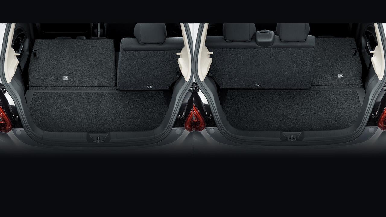 Mitsubishi Mirage 2017 ghế gập 40/60