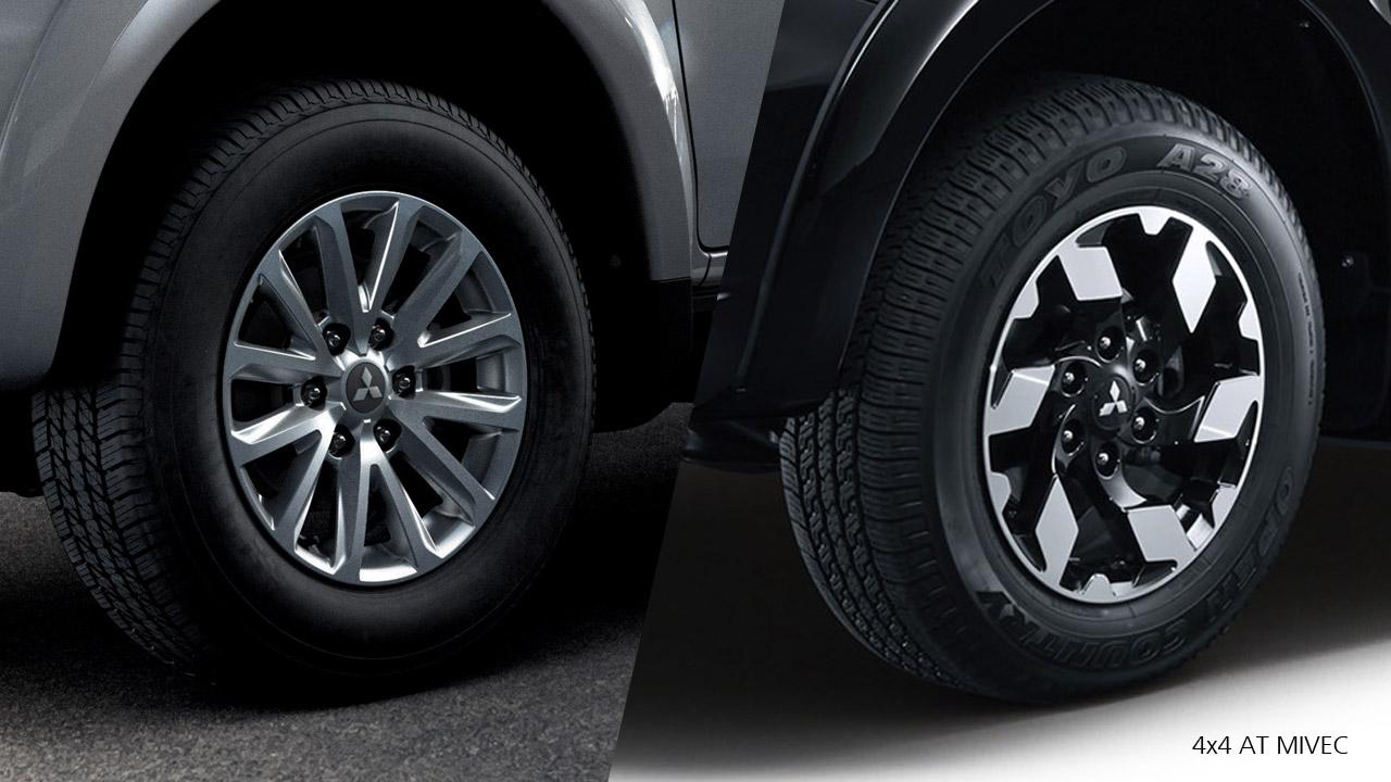 """Mitsubishi Triton 2017 mâm bánh xe kích thước 17"""""""